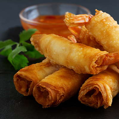Del Monte VEG SPRING ROLLS WITH EGGLESS MAYO Recipe