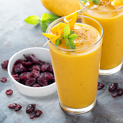 Del Monte MANGO BERRIES SMOOTHIE Recipe