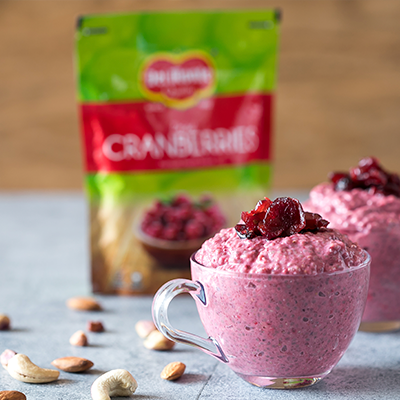 Del Monte Cranberry Chia Seed Pudding Recipe