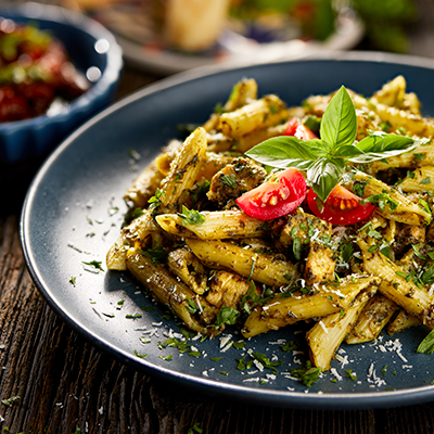 Del Monte Penne Pasta with Pesto Sauce Recipe