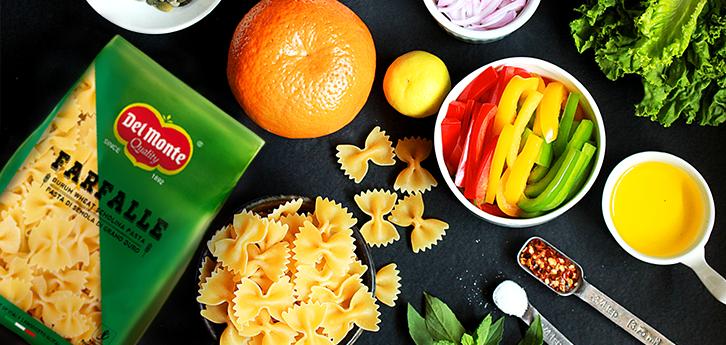 Del Monte Farfalle & Orange Pasta Salad Recipe