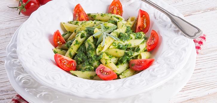 Del Monte Spinach Walnut and Carrot Pasta Salad Recipe