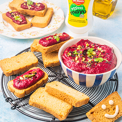 Del Monte BEETROOT PISTACHIO DIP/SPREAD Recipe