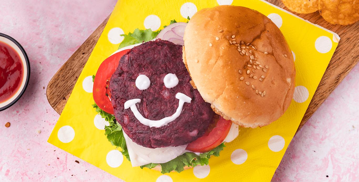 Pink Patty burger