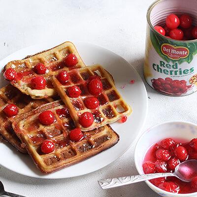 Del Monte CHERRY WAFFLES Recipe