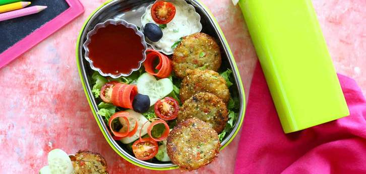 Del Monte Mixed Vegetable and corn Patty  Recipe