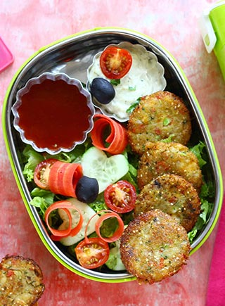 Mixed Vegetable and corn Patty