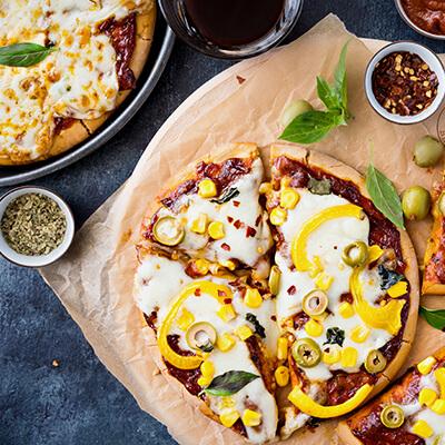 Del Monte OLIVE CORN PIZZA WITH PIZZA SAUCE Recipe