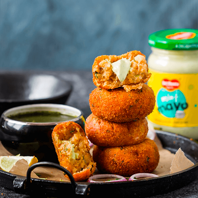 DEL MONTE MINT MAYONNAISE STUFFED POTATO CUTLETS Recipe
