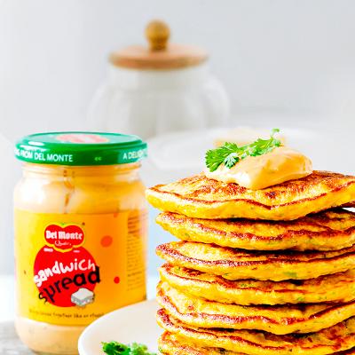 Del Monte CARROT CORN SANDWICH SPREAD MAYO PANCAKES Recipe