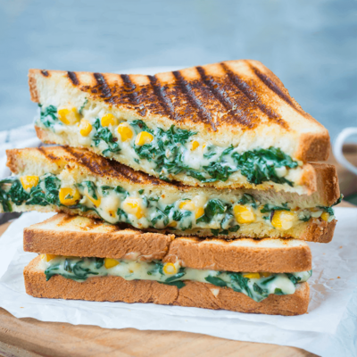 Del Monte SPINACH CORN grilledSANDWICH Recipe