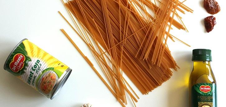 Del Monte Whole Wheat Spaghetti with Creamy Sweet Corn Sauce Recipe