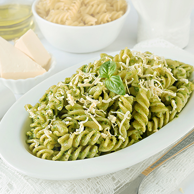 Del Monte spirali with spinach and pesto Recipe