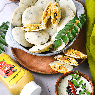 Del Monte STUFFED IDLI WITH ACHARI MAYO Recipe