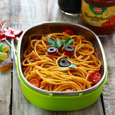 Del Monte TOMATO AND BASIL SPAGHETTI WITH PASTA SAUCE Recipe