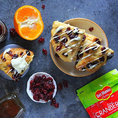 Del Monte Cranberry Orange Scones Recipe