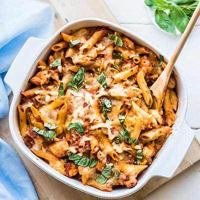 Del Monte Easy Chicken & Mushroom Pasta Bake Recipe