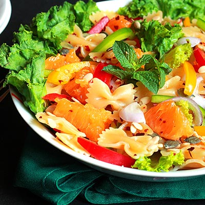 Del Monte Farfalle & Orange Pasta Salad Recipe