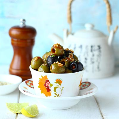 Del Monte Schezwan Olives Recipe