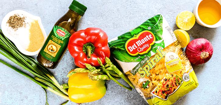 Del Monte Lemony Pepper and Asparagus Pasta Salad Recipe