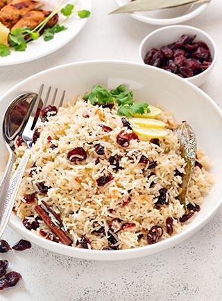 Cranberry Lemon Rice Pilaf
