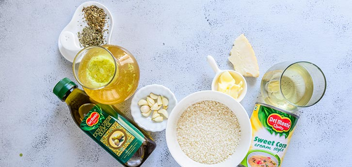 Del Monte Sweet  Corn Risotto  Recipe