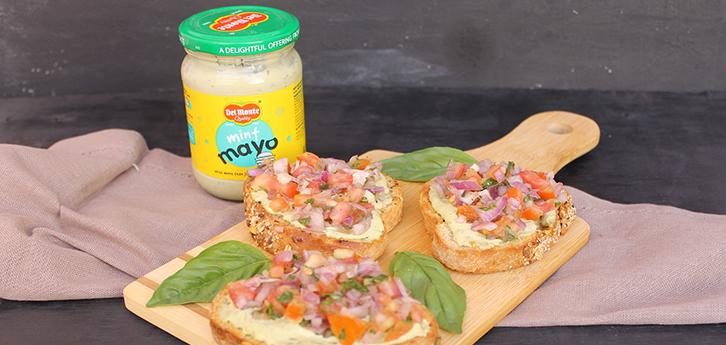Del Monte Tomato Onion Bruchetta Mint Mayo Recipe